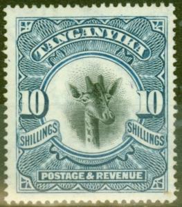 Tanganyika 1922 10s Dp Blue SG87 Wmk Sideways Fine Mtd Mint