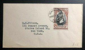 1974 Nukualofa Tonga Toga Islands Cover To New York USA SG 87 Silver Jubilee