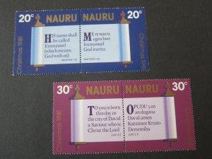 Nauru 1980 Sc 218a-220a Christmas Religion set MNH