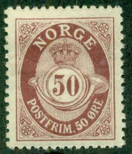 NORWAY #94, Mint Hinged, Scott $18.00