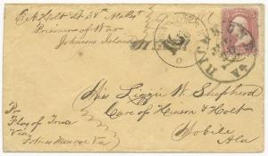 CSA POW Cover US Scott #65 Target Cancel Sandusky, OH CDS June 1864 Richmond, VA