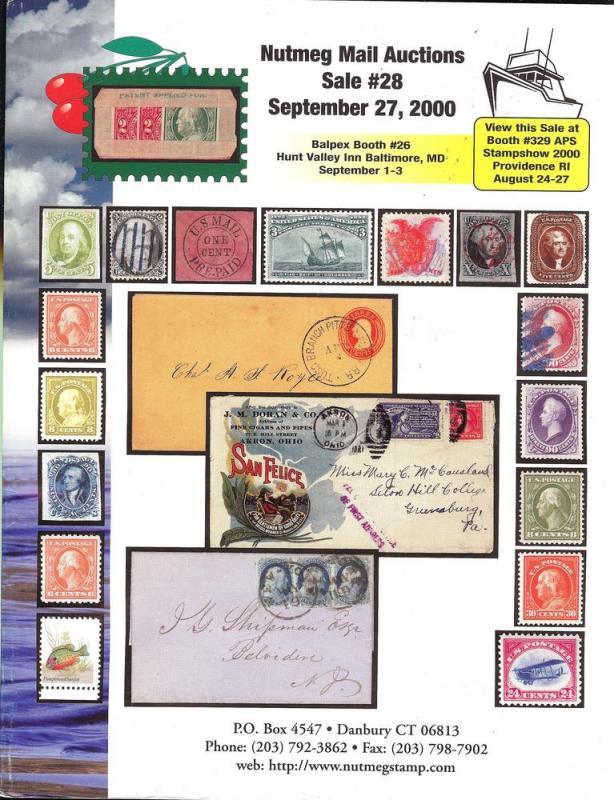 Nutmeg Stamp Sales - United States Stamps and Postal Hist...
