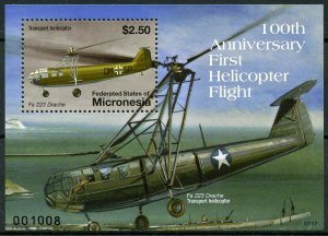 Micronesia 2007 MNH First Helicopter Flight 1v S/S Helicopters Aviation Stamps
