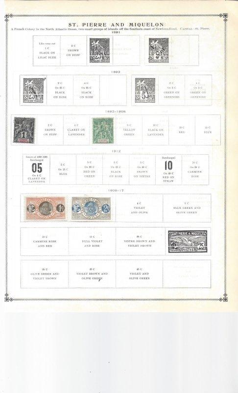 The Saint Countries -Lucia, Pierre & Miquelon, Kitts-Nevis, Helena, Vincent, etc