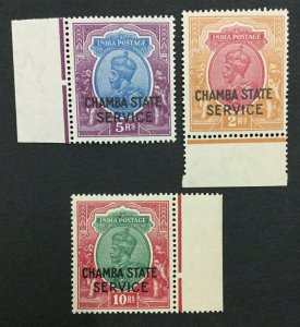 MOMEN: INDIA CHAMBA SG #O58-O60 MINT OG NH #193643-2337