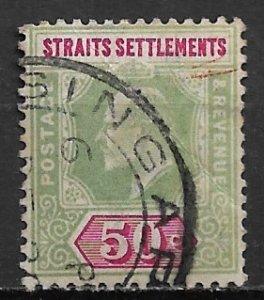1902 Strait Settlements 101  50¢ King Edward VII used