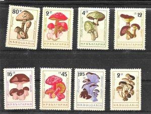 #6066 BULGARIA 1961 FLORA MUSHROOMS YV 1099-106 MNH