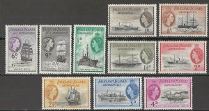 COLLECTION LOT # 4333 FALKLAND ISLANDS #1L19-28 MNH 1954 CV+$21