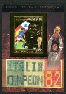1983 Central African Republic 934/B235bgold 1982 FIFA World Cup in Spain