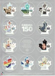 Canada SHEET #2999 - CANADA 150 (2017) x P (85¢) X 10