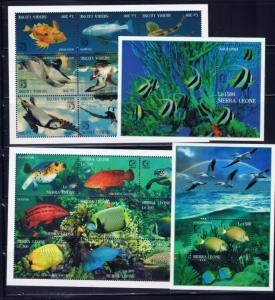 Sierra Leone 1799-1802 MNH 1995 Marine Life