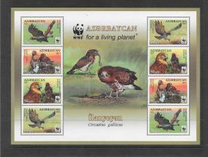 BIRDS - AZERBAIJAN #967f  WWF ISSUE  MNH
