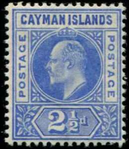 Cayman Islands SC# 11 SG# 11 Edward VII 6d wmk 3 light crease MLH