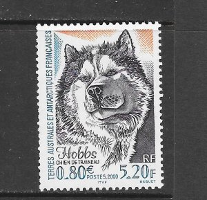 FRENCH SOUTHERN ANTARCTIC TERRITORIES #264 SLED DOG   MNH