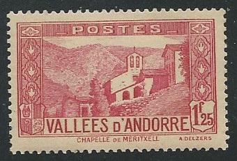 French Andorra + Scott # 52A - MH