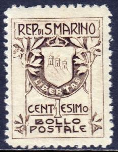 San Marino - Scott #78 - MH - One pulled perf - SCV $8.50