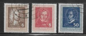 DDR Used 100 / 102 Portraits Type 1952