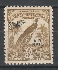 NEW GUINEA 1932 UNDATED BIRD AIRMAIL 5/-