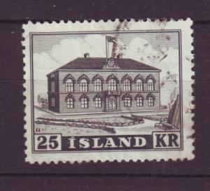 J19176 Jlstamps 1952 iceland set of 1 used #273 parliament building