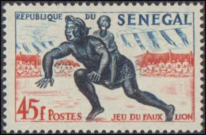 Senegal #202-206, Complete Set(5), 1961, Sports, Never Hinged
