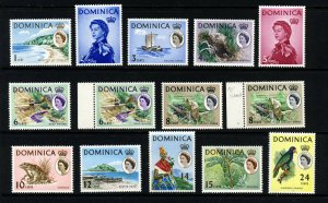 DOMINICA Queen Elizabeth II 1963-65 Pictorial Part Set SG 162 to SG 202 MNH