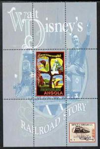 Angola 1999 Walt Disney's Railroad Story #1 perf s/sheet ...