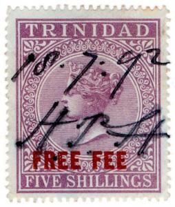 (I.B) Trinidad & Tobago Revenue : Free Fee 5/-