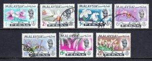 Malaysia (Perak) - Scott #139-145 - Used - Crease #139, 142, 143 - SCV $2.30