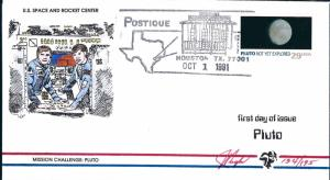 Beautiful Pugh Designed/Painted FDC Space Center Pluto #119 of 0nly 195