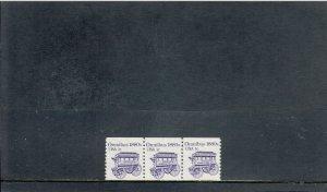 UNITED STATES 1897 MNH PLATE STRIP 3 PLATE 1 2019 SCOTT CATALOGUE VALUE $0.40