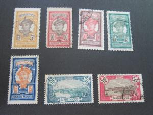 French Martinique 1908 Sc 60,68,71-4,80,84 FU