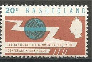BASUTOLAND  1965 ,MNH 20c  ITU Issue  Scott #102