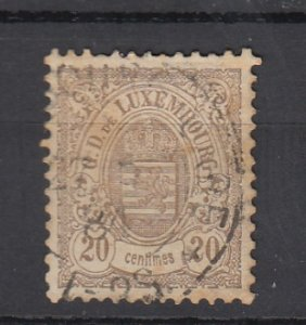 J25704 JLstamps 1880-1 luxembourg used #45 arms