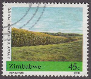 Zimbabwe 605 USED 1990 A Decade Of Achievments
