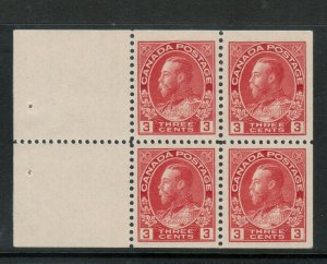 Canada #109a Extra Fine Never Hinged Booklet Pane