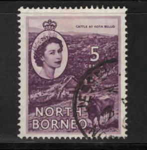North Borneo Scott 265 Used QE2 stamp