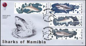 Namibia 2015. Sharks of Namibia (Mint) First Day Cover