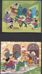 Lesotho - 1982/1983 Walt Disney Christmas Sc# 389,420 - MNH (734N)