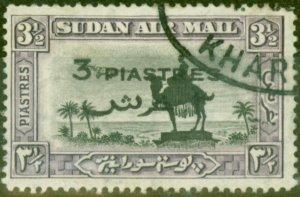 Sudan 1938 3p on 3 1/2p Black & Violet SG75 Fine Used