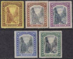 Bahamas 1917-1919 SC 58-62 Mint Set