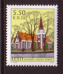 Estonia Sc579 2007 St John's Church Kanepi stamp  NH