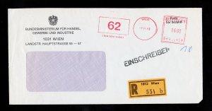AUSTRIA COMMERCIAL REGISTERED COVER VIENNA (WIEN) TO WAIDHOFEN AN DER YBBS 1983