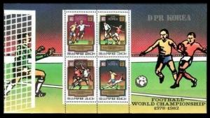 1980 Korea, North 2033-36/B78 1982 World championship on football of Spain 20,00