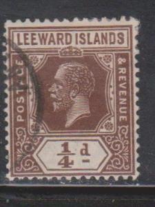 LEEWARD ISLANDS Scott # 61 Used - KGV Definitive