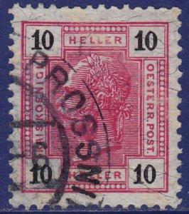 Austria - 1904 - Scott #97b - used - PROSSNITZ pmk Czech Republic