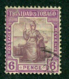 Trinidad & Tobago 1913 #6 U SCV (2018)=$8.00
