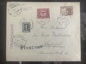 1925 Vienna Austria Airmail Cover To Klagenfurt