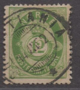 *Norway SC# 26 Used, VF, Wmk#160, Light Green