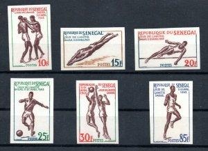 1963 - Senegal- Sports Games, Dakar- Friendship games- Imperforated Set 6v.MNH**