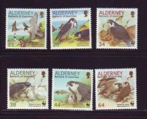 Alderney Sc 142-7 2000 Falcon stamps mint NH